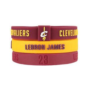 NBA官方授權正版 運動矽膠手環-騎士 詹姆士LeBron James LBJ 小皇帝 運動手環 組合包