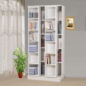 ONE HOUSE-diy-第三代大尺寸日式雙排活動書櫃全鋼鐵鋼珠滑輪/展示櫃/書架