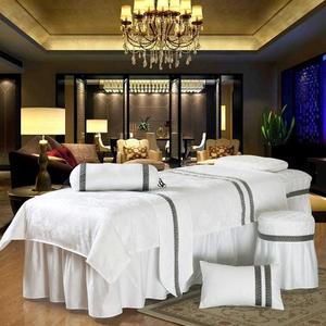 【免運】美容床罩棉質貢緞提花美容床罩四件套按摩床罩SPA美容床罩可定做洗頭床