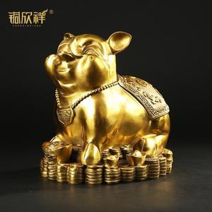 純銅豬風水擺件工藝品大號招財豬裝飾品擺設禮品銅豬 星辰小鋪
