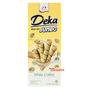 【吉嘉食品】Deka 白咖啡雪茄威化捲 每盒160公克(10入),產地印尼,奶素 [#1]{8995077605697}