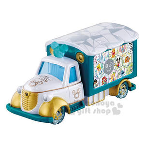 〔小禮堂〕迪士尼 米奇 TOMICA小汽車《白綠.米奇》日本7-11限定款 4904810-87209