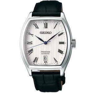 【台南 時代鐘錶 SEIKO】精工 PRESAGE 經典機械錶 SRPD05J1@4R35-02V0Z 皮帶 白面 37mm