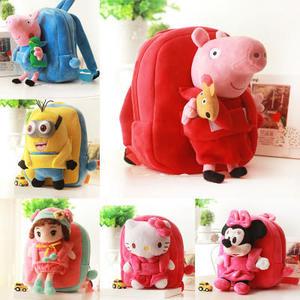 [現貨+預購] 粉红猪小妹佩佩豬毛绒書包卡通幼兒園寶寶個性背包