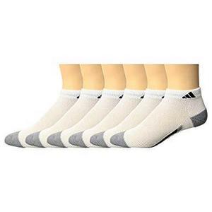 Adidas-  愛迪達學童6雙組低切襪子(白色)