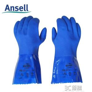 Ansell 14-662PVC殺魚手套防刺防水防滑防油防酸加厚耐磨勞保手套 3C優購