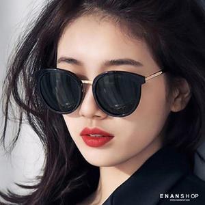 惡南宅急店【0055M】金屬邊墨鏡 觸及真心 吳允書 劉仁娜同款 明星款太陽眼鏡 黑色墨鏡
