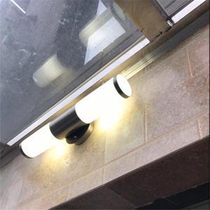 不銹鋼室外防水防銹led壁燈 現代戶外露臺陽臺墻燈 萬客居