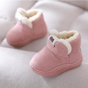 兒童雪靴 兒童嬰幼兒加絨寶寶學步男童女童棉鞋軟底防滑雪地靴