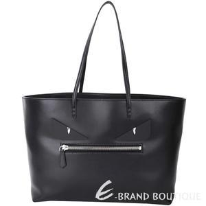 FENDI Roll Bag 怪獸魔眼造型平滑小牛皮購物包(黑色) 1740170-01