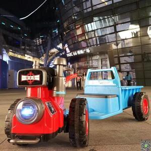 電動車 兒童手扶拖拉機電動車可坐雙人1-3歲3-6歲男女寶寶小孩抖音玩具車T