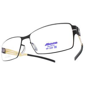 MIZUNO 美津濃 光學眼鏡 MF1225 C71 (黑-金) 簡約方框款 # 金橘眼鏡