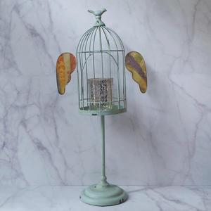 復古風翅膀鳥籠型燭台/花架擺飾-達可家居