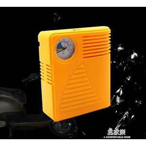 電動車充氣泵車載48v60v輪胎電動充氣機家用打氣筒電瓶車打氣泵    易家樂