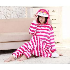 秋冬柴郡貓 妙妙貓 卡通連體睡衣如廁版超舒適柔順法蘭絨家居服