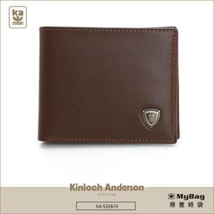Kinloch Anderson  金安德森 皮夾 單色優質男  咖啡色 牛皮短夾 極簡風 KA-53305 MyBag得意時袋