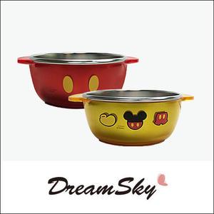 韓國 Disney 迪士尼 米奇 兒童 卡通 不鏽鋼碗 無蓋  米老鼠 290ml  Dreamsky