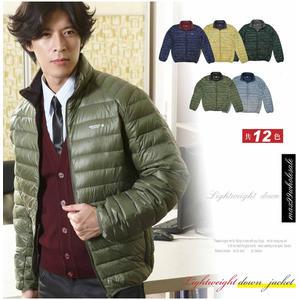 【大盤大】(D788) 綠 輕量 冬 男 羽絨衣 羽絨外套 紳士 抗寒 防風 保暖外套 輕薄 有大碼 生日禮物