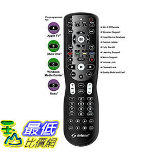 [106美國直購] Inteset 4-in-1 Universal Backlit IR 學習型遙控器 Android TV, Apple TV Xbox One Roku