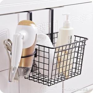 浴室置物架 鐵藝櫥櫃收納掛籃廚房浴室門背收納籃 瀝水收納架調料架置物架 童趣潮品