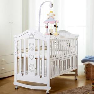 【i-smart】熊可愛多功能嬰兒床 可變書桌