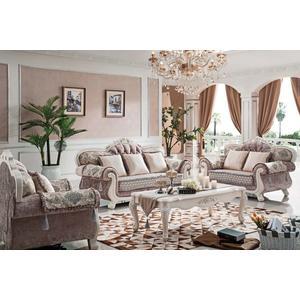 【大熊傢俱】660玫瑰系列 歐式皮沙發 休閒沙發 多件沙發組 雕花 美式皮沙發 歐式沙發