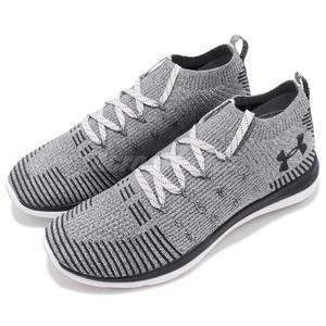 Under Armour UA 慢跑鞋 Slingflex Rise 灰 黑 中筒 編織鞋面 運動鞋 男鞋【PUMP306】 3019874102