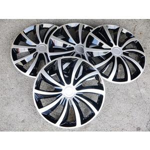 風火輪 銀黑款 改裝亮面款 仿鋁圈樣式 通用型 四片裝 13吋 14吋 通用型 輪圈蓋 鐵圈蓋 保護蓋