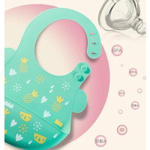 寶寶圍兜防水矽膠圍嘴寶寶吃飯圍兜兒童飯兜嬰兒幼兒超軟大號口水兜 朵拉朵