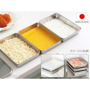 日本製不鏽鋼油炸盤瀝油組保鮮盒3入764375通販屋
