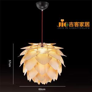 [吉客家居] 吊燈-VD-298-981 /60公分原木松果造型時尚簡約北歐復古工業美式鄉村餐廳吧台民宿咖啡館