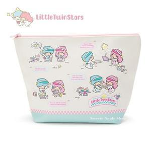 日本限定 三麗鷗 雙子星 KIKI&LALA 夢幻甜點風 收納包 / 化妝包 L size