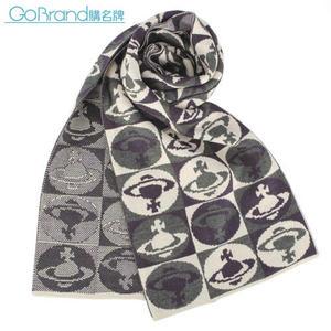 Vivienne Westwood 滿版星球圖樣圍巾(米色)910533