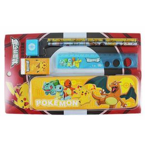 【卡漫城】 寶可夢 禮盒文具組 6件 ㊣版 pokemon 神奇寶貝 皮卡丘 鉛筆盒 尺 橡皮擦 鉛筆 削筆器
