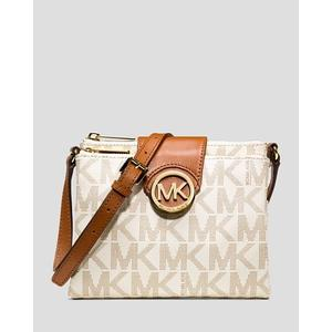 【BJ.GO】Michael Kors_Fulton Small Saffiano Leather Messenger 經典MK-LOGO緹花多層斜背包