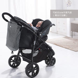 【附雨罩】奇哥JOIE-豪華休旅推車/嬰兒推車+奇哥英倫提藍汽座(黑) 9450元