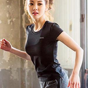 瑜珈上衣 韓國運動跑步瑜伽服速乾T恤【Ann梨花安】
