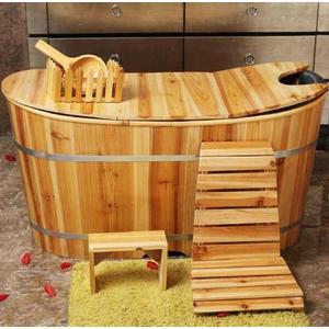 加厚美容院家用泡澡木桶沐浴桶成人養生沐浴桶實木浴缸洗澡桶木質ATF