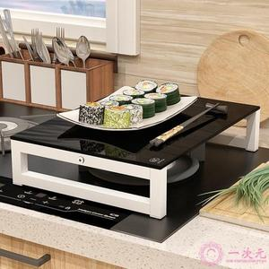電磁爐支架微波爐廚房置物架天燃氣集成灶電陶爐架子煤氣灶臺蓋板