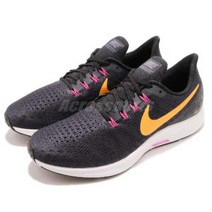 Nike 慢跑鞋 Air Zoom Pegasus 35 紫 黃 透氣工程網面 氣墊避震 男鞋 運動鞋【PUMP306】 942851-008