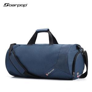 健身包運動包男手提足球訓練包短途旅行袋女行李包單肩圓筒旅行包-凡屋