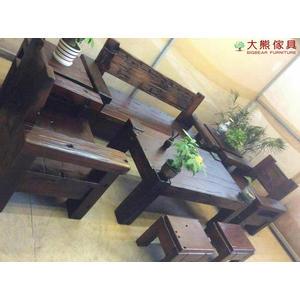 【大熊傢俱】 老船木 茶几 桌子 原木桌 泡茶桌 長方几 長凳 實木椅 客廳組椅 休閒組椅 原生態