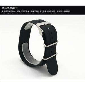 矽膠防水防汗運動錶帶 矽膠橡膠手錶帶一條過錶鍊配件 18/20/22MM poly girl
