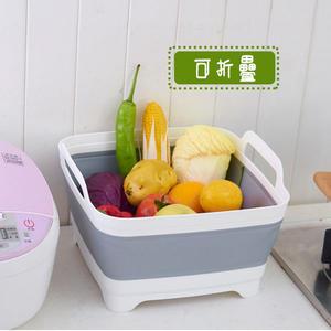 日式可折疊洗菜籃 水果置物瀝水籃