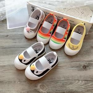 女童布鞋2019春秋公主寶寶幼兒園室內鞋防滑軟底單鞋兒童帆布鞋子幼兒園室內鞋 滿天星