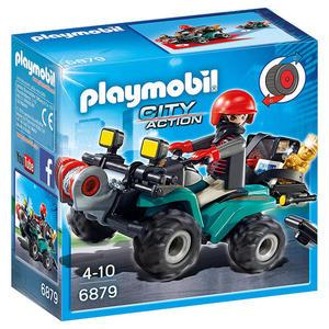摩比積木 playmobil 強盜的迴力車