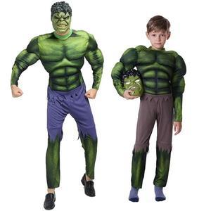 萬圣節兒童節成人冬季cosplay復仇者聯盟綠巨人服裝衣服面具 歐亞時尚