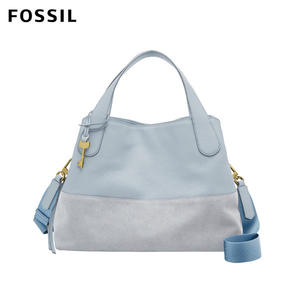 FOSSIL MAYA 粉藍色柔軟真皮手拿包 ZB7645436