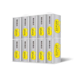 【簡約組合】優質抽取式衛生紙100抽x10包x8串/箱(銀)