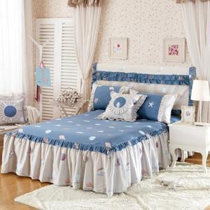 純棉防滑床裙床罩床套單件 全棉韓版花邊罩床單 床包組雙人5*6尺床·樂享生活館